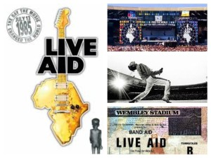 live aid collage